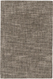 Crosshatch Wool Rug: Charcoal