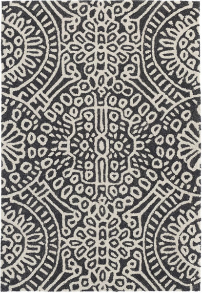 Temple Charcoal Wool Rug