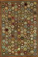 Cat's Paw Brown Wool Rug