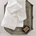 Chelsea White Bath Towel Collection