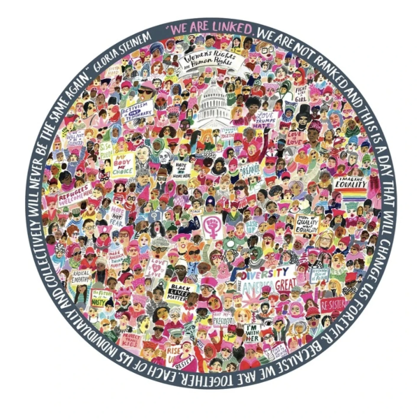 Women March! 500-Piece Round Puzzle