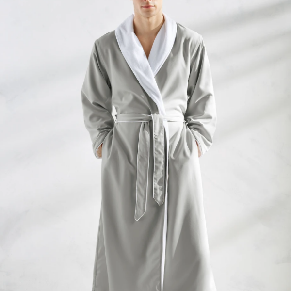Spa Luxury Robe in Silver Sage