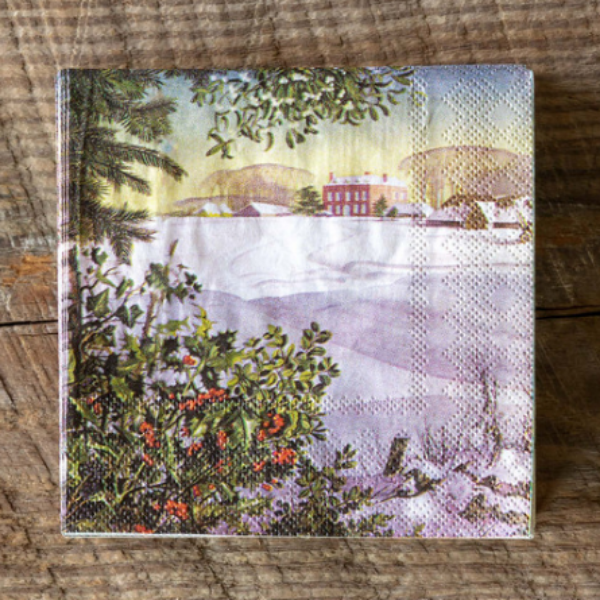 Winter Scene Paper Beverage Napkins