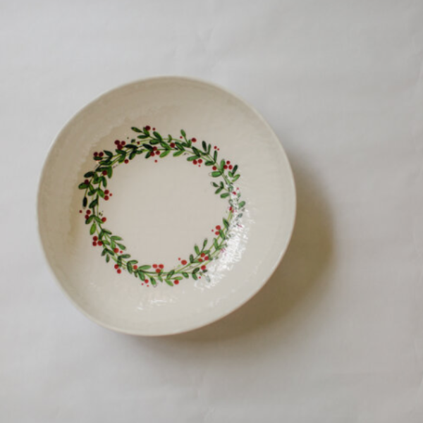 Melamine Christmas Serving Bowl