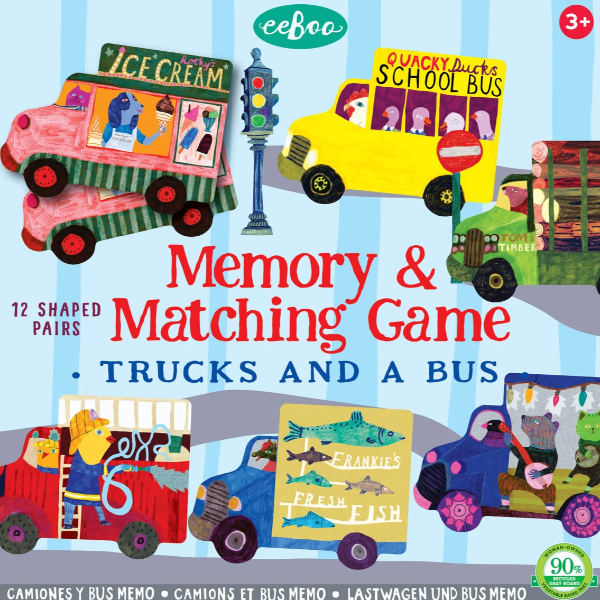 Trucks & A Bus Matching Game