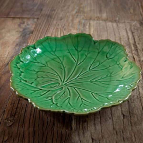Garden Leaf Salad Plate Set/4