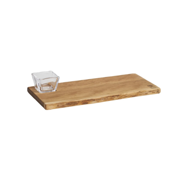 Andrew & Simon Collaboration- Pinneo Board w/ Glass Bowl- Cherry