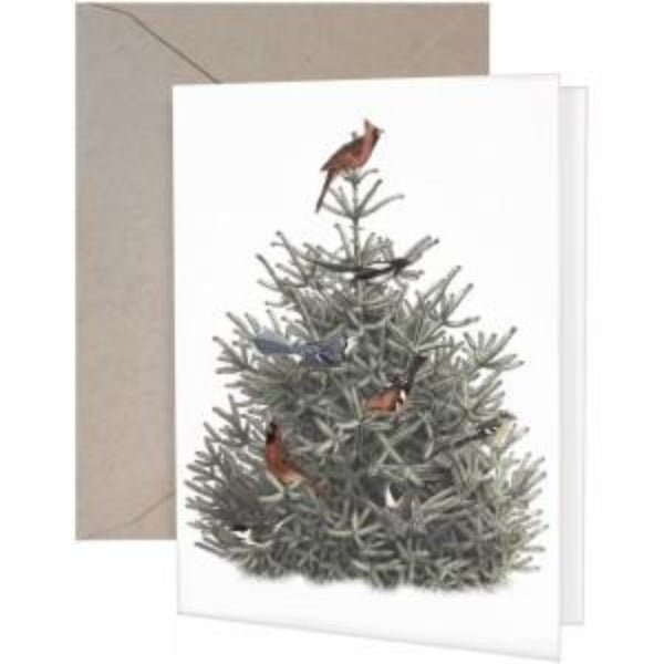 Pine Tree Birds Set/8 Boxed Cards