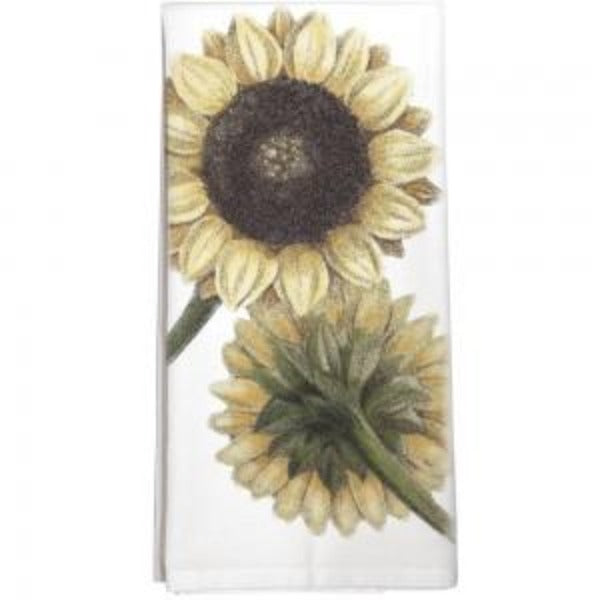 Two Sunflowers Towel