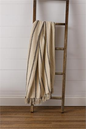 Striped Throw with Tassels