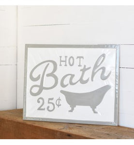 Gray Letter Bath Sign