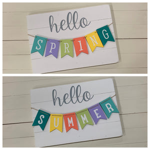 Spring/summer banner sign craft