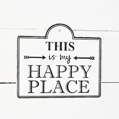 HAPPY PLACE TIN SIGN