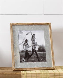 Picture Frame - Galvanized Mat, Large