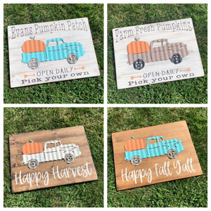 Pumpkin truck craft kit