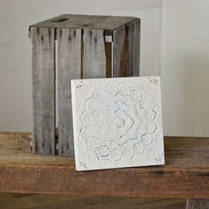"THICK 12"" WHITE TIN TILE"