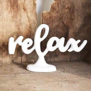 WHITE RELAX STAND