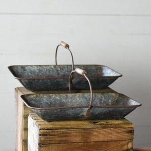 TIN TRAY BASKETS