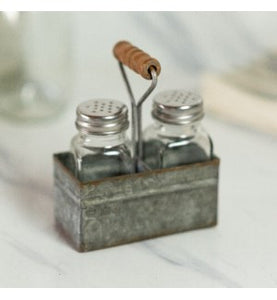 Metal salt and pepper shaker