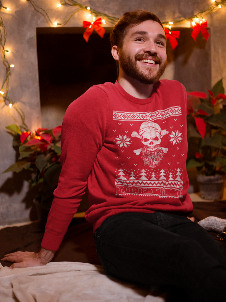BEARDED - UGLY CHRISTMAS SWEATSHIRT