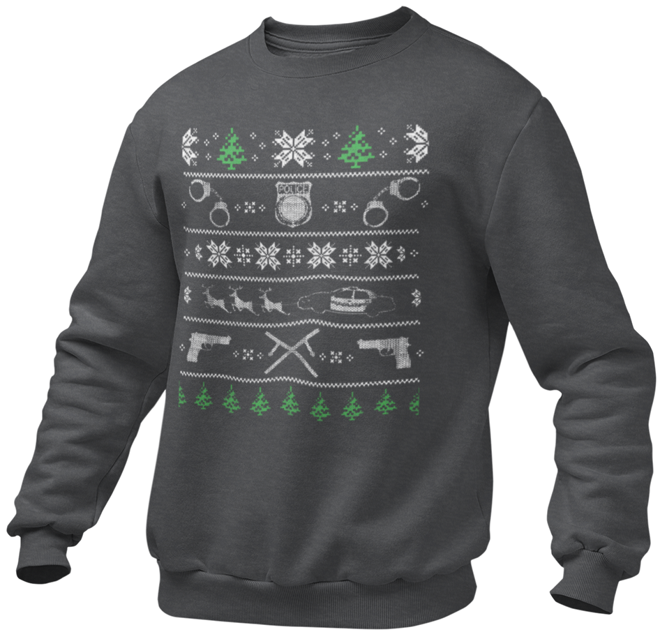 POLICE - UGLY CHRISTMAS SWEATSHIRT