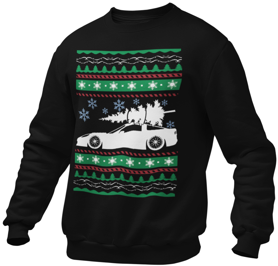 SPORTS CAR - UGLY CHRISTMAS SWEATSHIRT