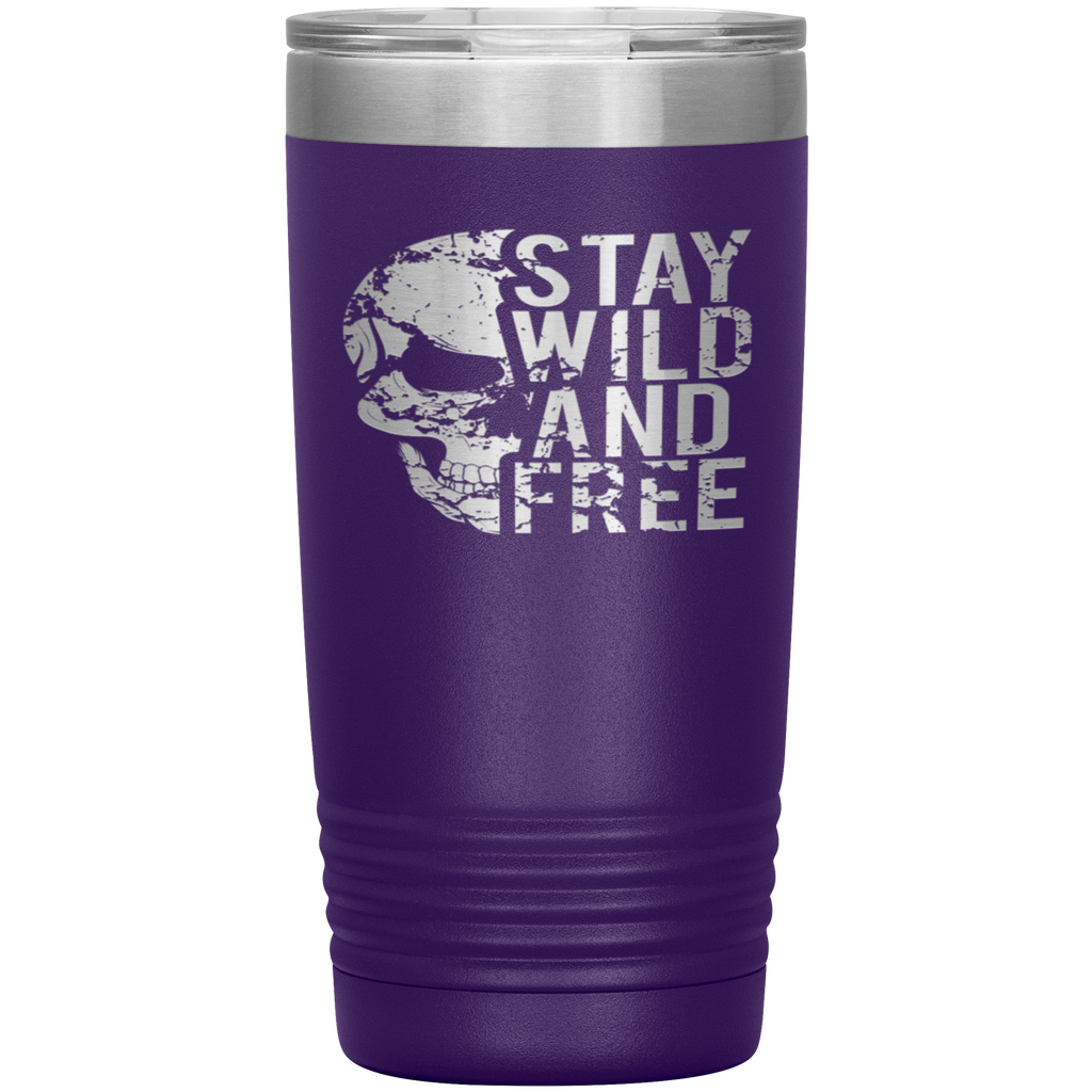 STAY WILD AND FREE - 20oz. Tumbler
