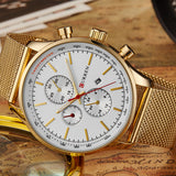 Men's Gold/White Quartz Watch