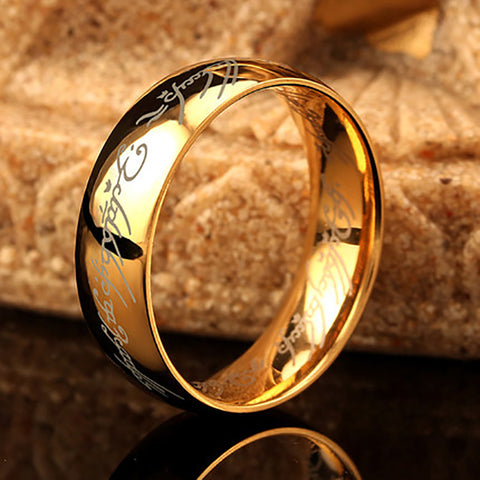 Lord Of Rings Stainless Steel Ring