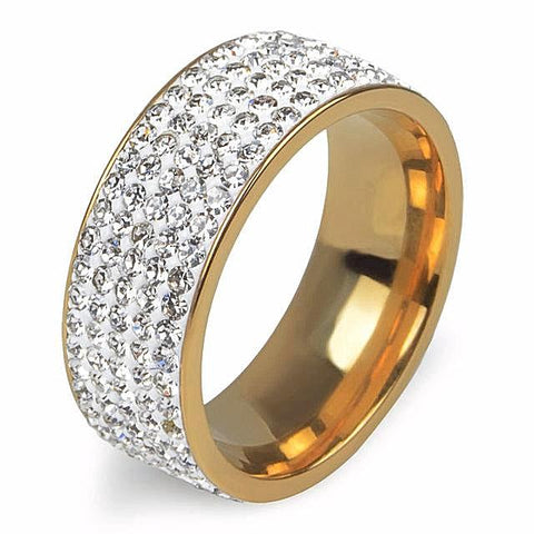 Elegant Crystal Gold Color Ring