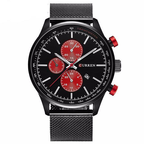 Men's Black/Red Quartz Watch