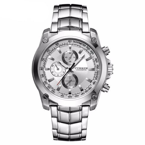 Men's Full Steel Quartz Watch