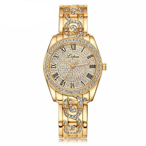 Diamond Style Stainless Steel Watch