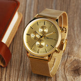 Luxury Gold Chronograph Watch