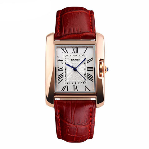 Rectangle Red/Gold Classic Watch