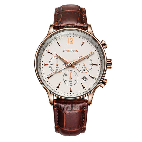 Chrono White/Rose Gold