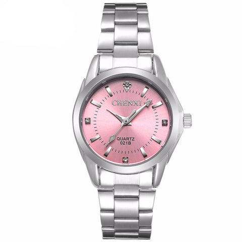 Ladies' Silver/Pink Classic Watch
