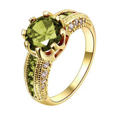 Crown Crystal Golden Ring