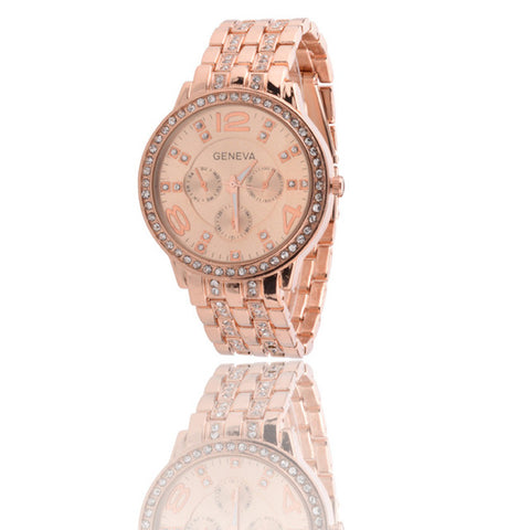 Full Stainless Steel Rhinestone Watch