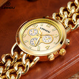 Gold Colour Chain Watch