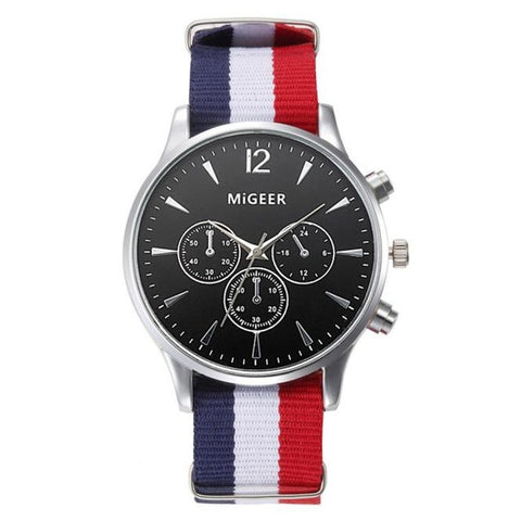 THE GENT (BLACK FACE) - CANVAS STRAP