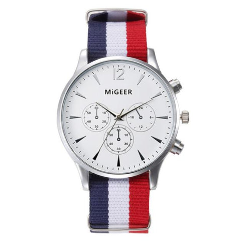 THE GENT (WHITE FACE) - CANVAS STRAP