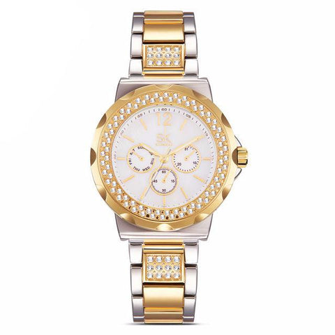 Rhinestones Stainless Steel Watch