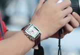 Rectangle Leather Watch