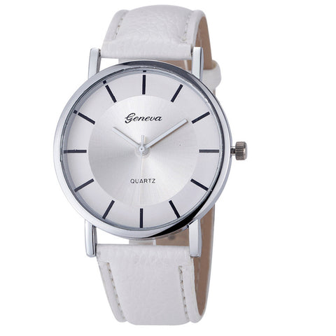 Geneva Stainless Steel Retro Watch