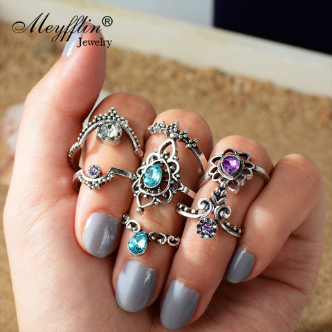 Silver Colour Ring Set
