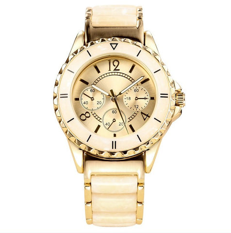 Gold Color Ceramics Watch