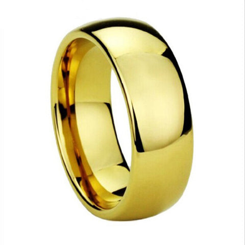 Tungsten 8MM Gold Color Ring