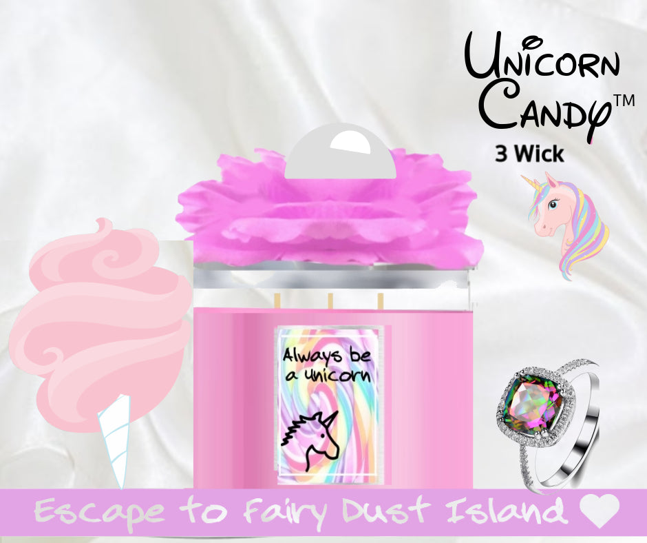 Unicorn Candy - Jewelry Candle 3 Wick