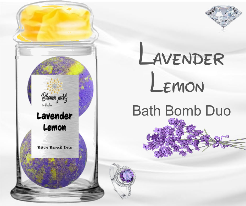 Lavender Lemon - Jewelry Bath Bomb Duo
